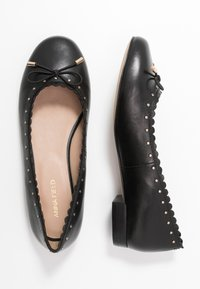 Anna Field - LEATHER BALLERINA - Ballet pumps - black - 3