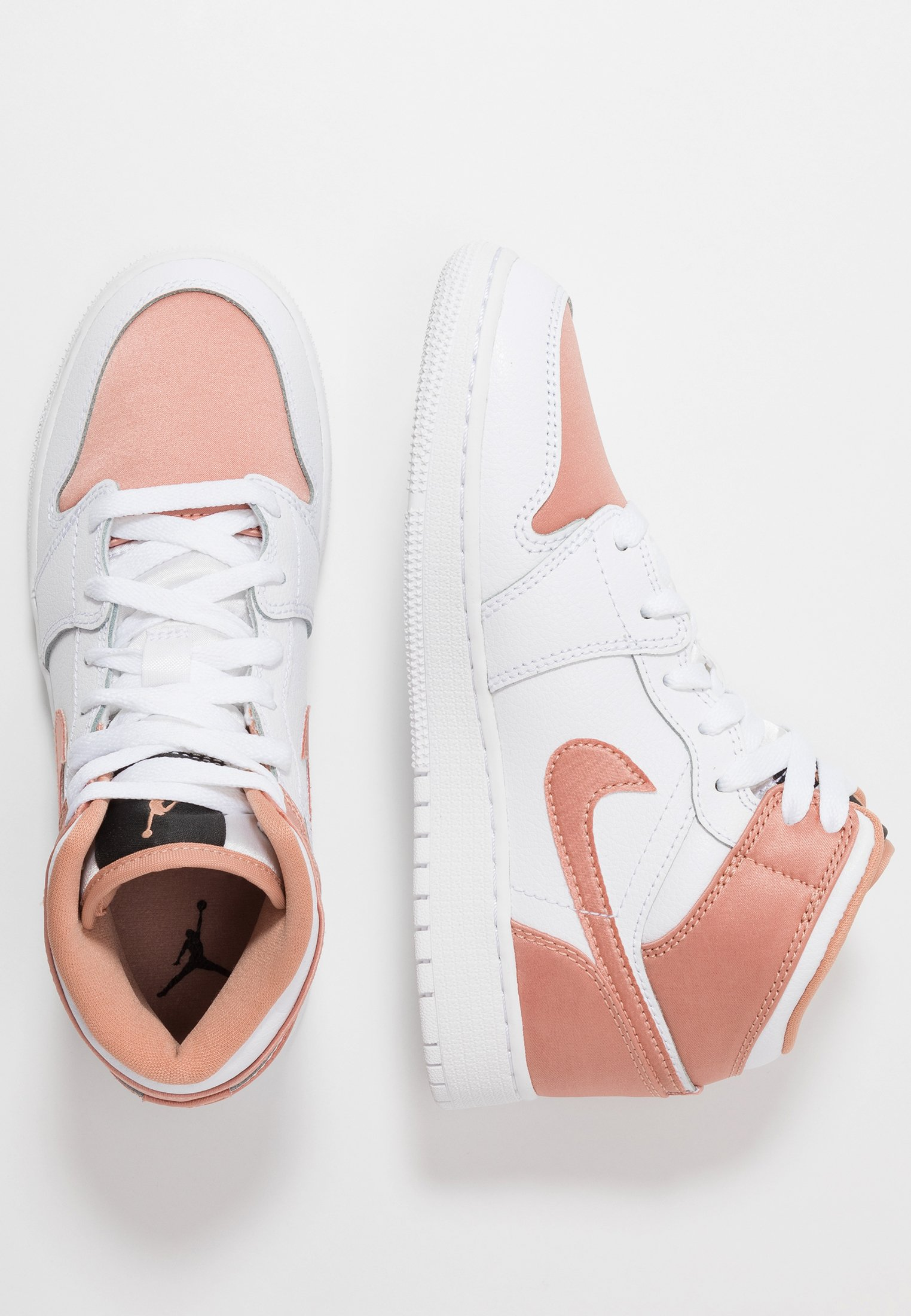 AIR 1 MID UNISEX - Scarpe da basket - white/rose gold/black