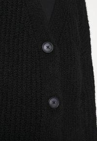 Zign - CROPPED CHUNKY CARDIGAN - Cardigan - black - 5