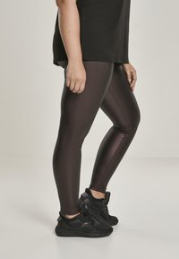 Urban Classics - Leggings - Trousers - redwine - 4