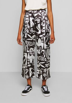 ABSTRACT TROUSERS - Trousers - black/white