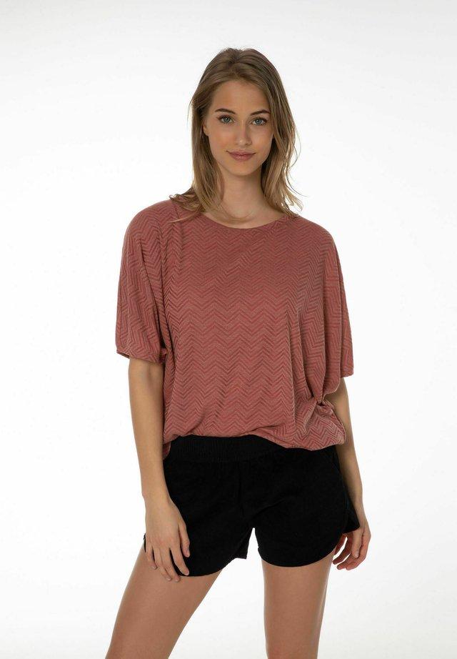 T-shirt con stampa - terracota