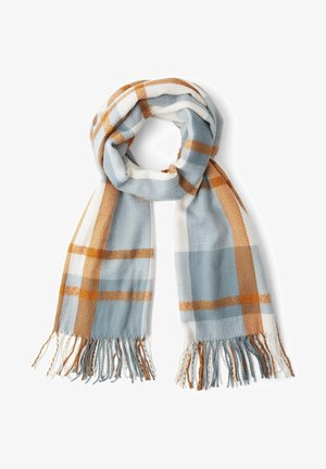 IM KAROMUSTER - Scarf - mineral stone blue check