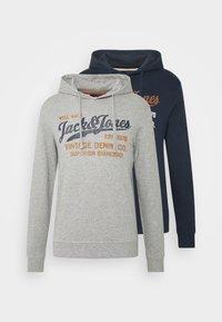 JPRBLABILLY HOOD 2 PACK - Sweatshirt - navy blazer