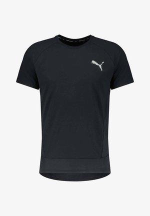 EVOSTRIPE TEE - Basic T-shirt - schwarz