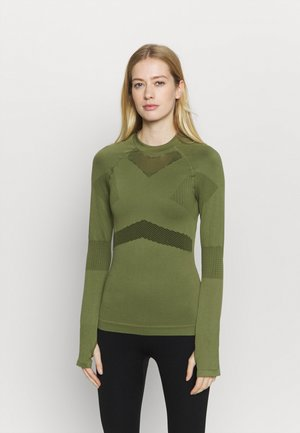 COMPRESSION  - Long sleeved top - green