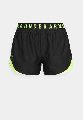 PLAY UP SHORTS 3.0 - Sports shorts - black/yellow