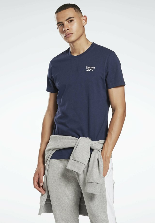CLASSIC SMALL LOGO ELEMENTS - T-shirt con stampa - blue