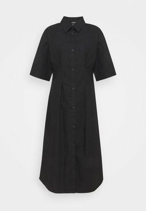 Shirt dress - black solid