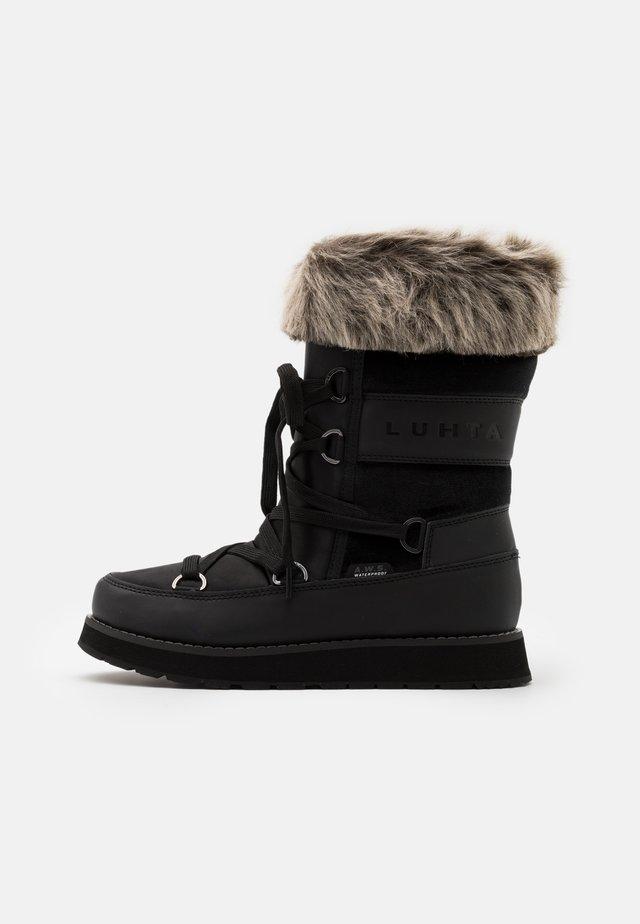 LUHTA UUSI - Botas para la nieve - black