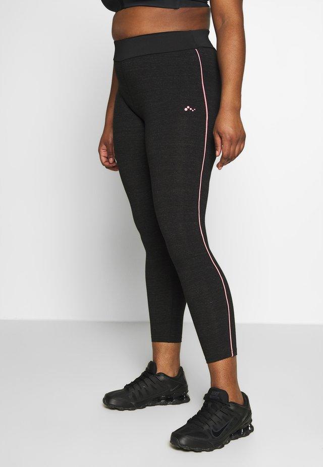 ONPANGIE LIFE LEGGINGS CURVY - Legging - black/strawberry pink