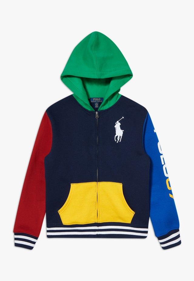 Zip-up hoodie - multicolor