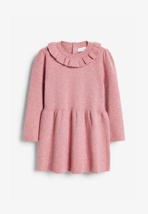 FRILL NECK - Jumper dress - pink