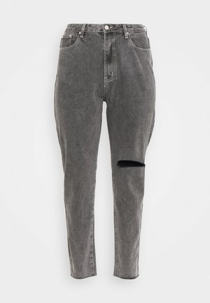 WASHED SINGLE THIGH RIP RIOT  - Jeans relaxed fit - black