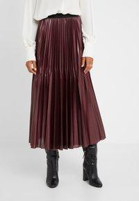 Marella - SUPER - A-line skirt - bordeaux - 0