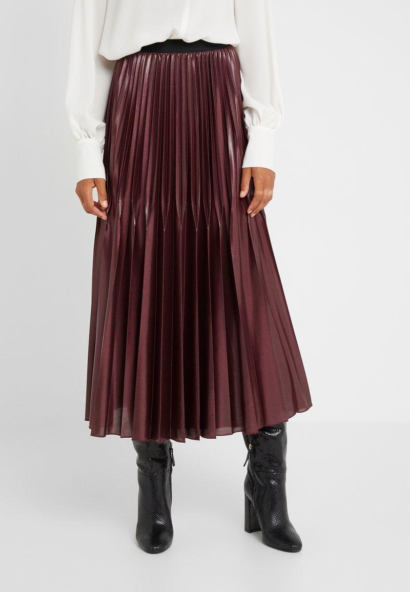 Marella - SUPER - A-line skirt - bordeaux