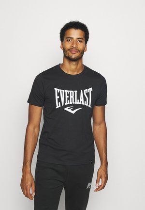 BASIC TEE RUSSEL - Print T-shirt - black