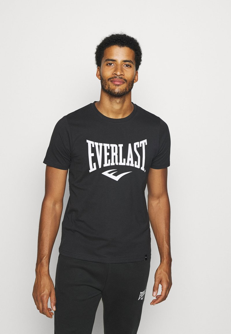 Everlast - BASIC TEE RUSSEL - Triko spotiskem - black