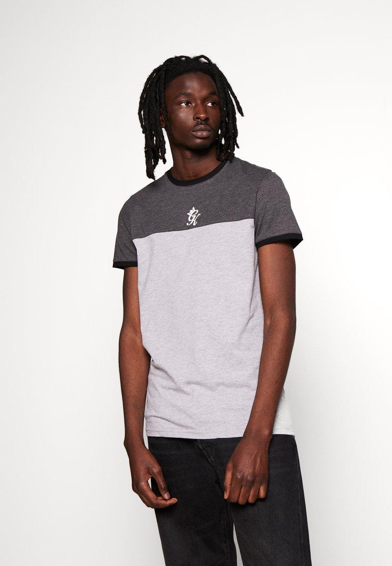 Gym King - ORIGIN PANEL - Camiseta estampada - charcoal marl/grey marl