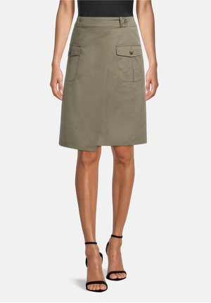 A-line skirt - dusty olive