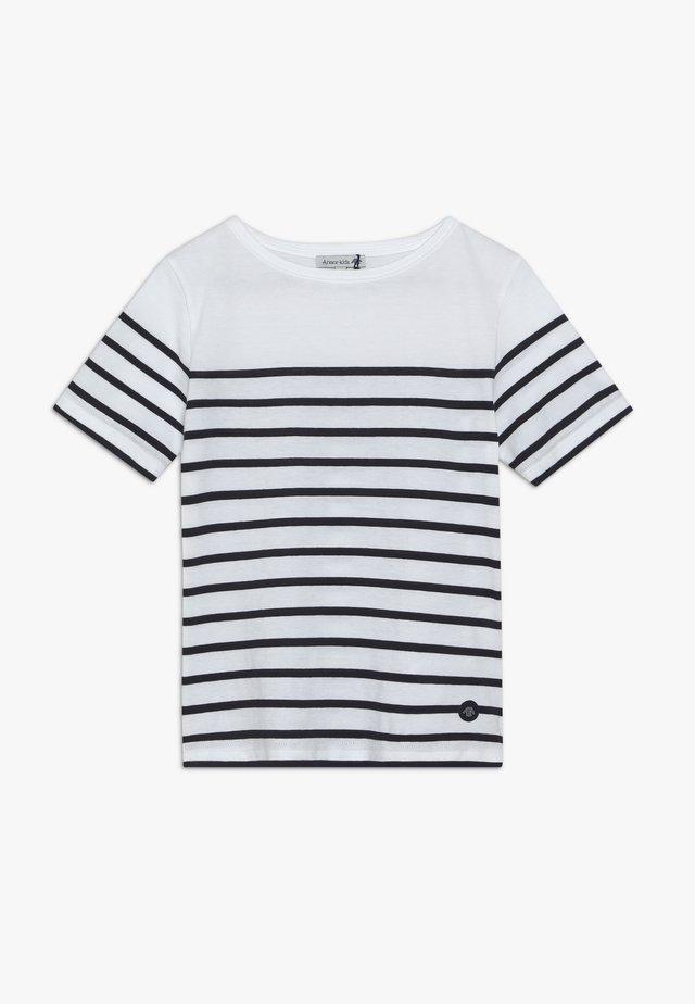 ETEL - MARINIÈRE - T-SHIRT - T-shirts med print - blanc/navire