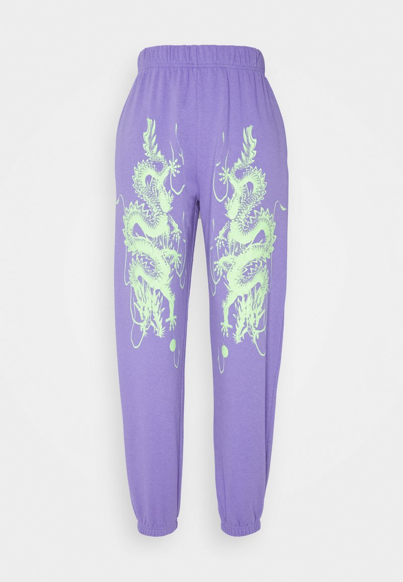 NEW girl ORDER - DRAGON JOGGERS - Tracksuit bottoms - lilac
