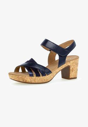 Platform sandals - blue kombi (kork)