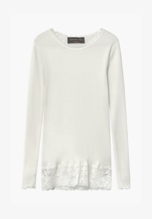 ORGANIC - Long sleeved top - ivory