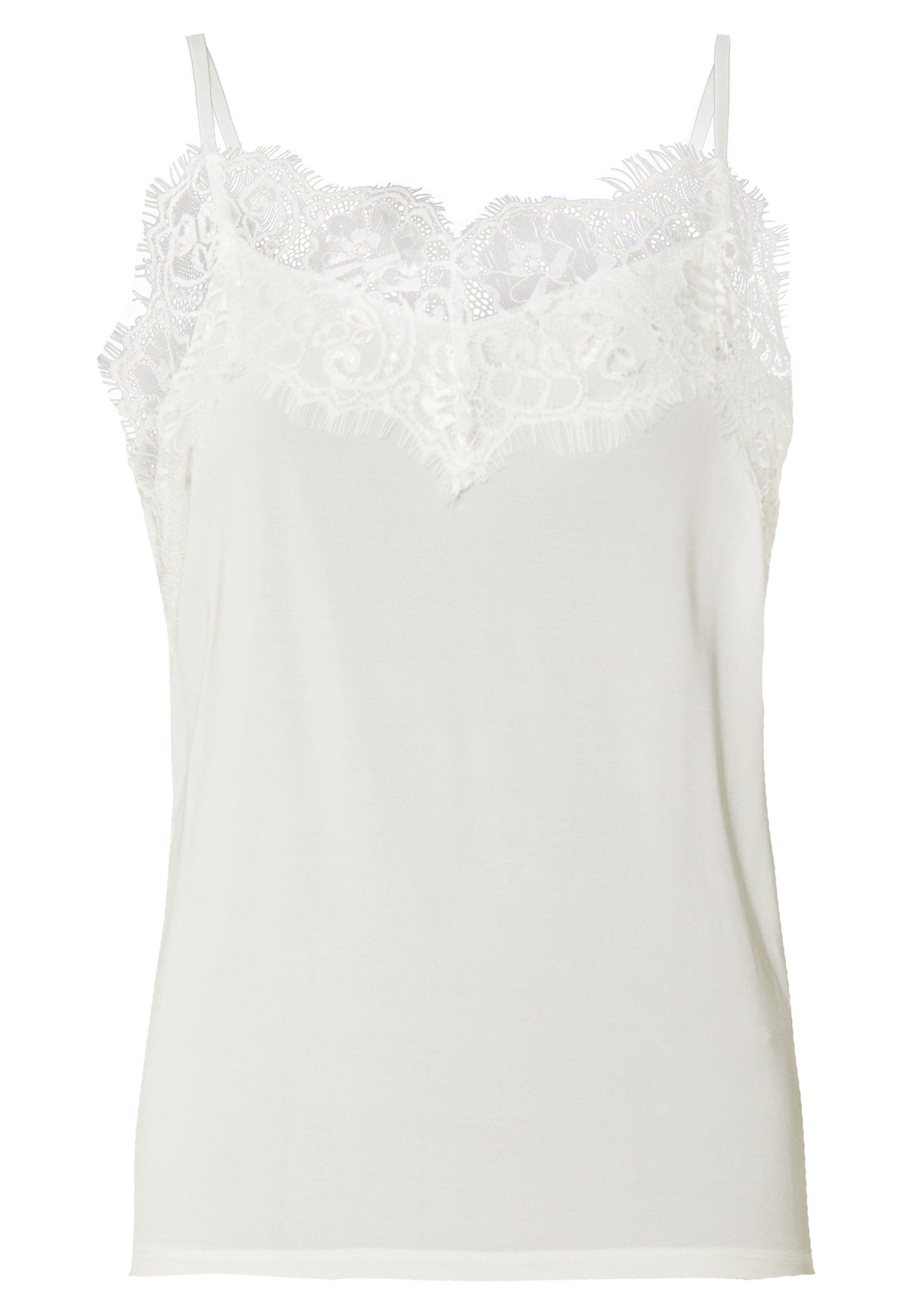 Soaked In Luxury Clara Singlet - Topper White/offwhite