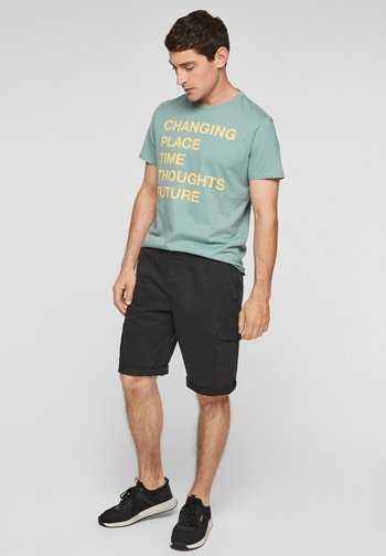 BERMUDES - Denim shorts - black