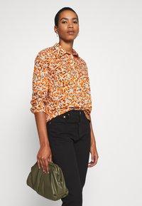 Benetton - Button-down blouse - orange - 4