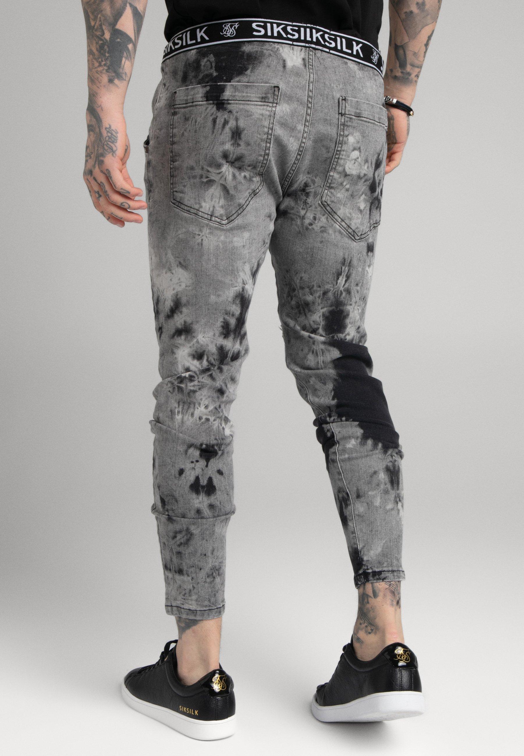 Men DISTRESSED ELASTICATED - Slim fit jeans