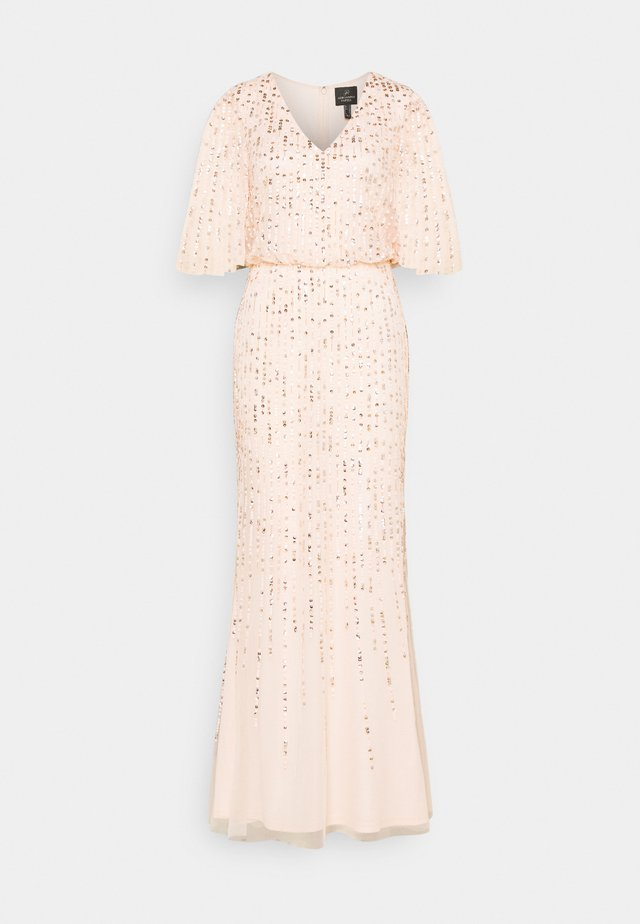 BEADED COVERED BLOUSON GOWN - Abito da sera - flaxen
