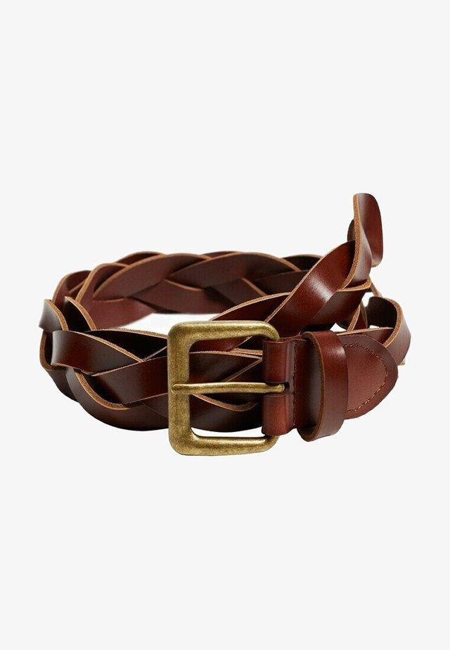 DAVID - Pletený pásek - bruin
