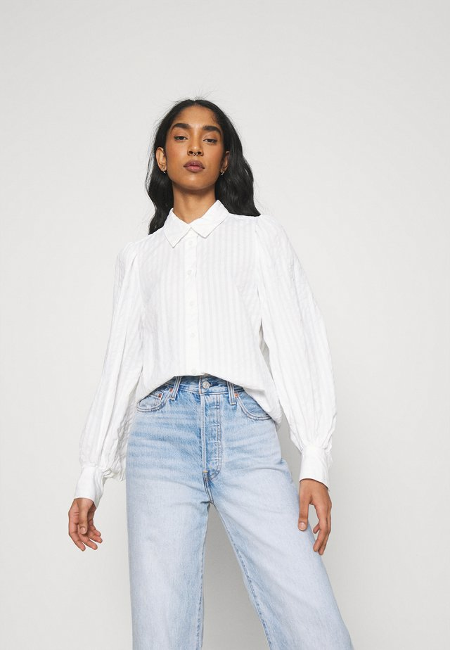 PHRIDA BLOUSE - Button-down blouse - white solid