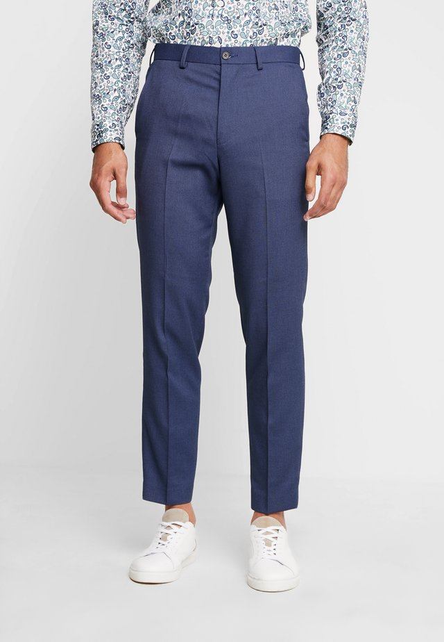 STAND ALONE BIRDSEYE - Suit trousers - blue