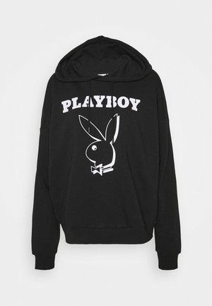 ONLPLAYBOY LIFE HOOD BOX - Sweatshirt - black