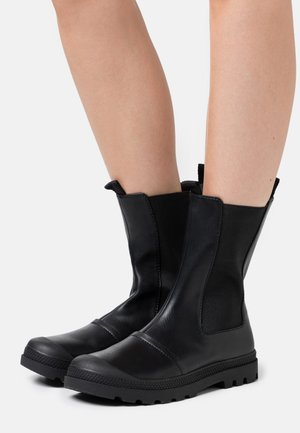 ANNIE MID LEG LUG SOLE BOOT - Nilkkurit - black