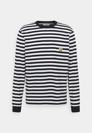 SCOTTY POCKET - Long sleeved top - black/white
