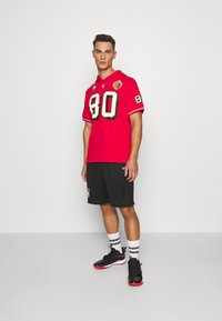 Mitchell & Ness - SAN FRANCISO JERRY RICE HOODED SHORT SLEEVE - Sweat à capuche - red - 1