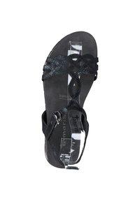 Tamaris - Platform sandals - blk snake metallic - 2