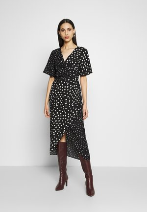 MIX AND MATCH SPOT MANIPULATED WAIST DRESS - Day dress - black