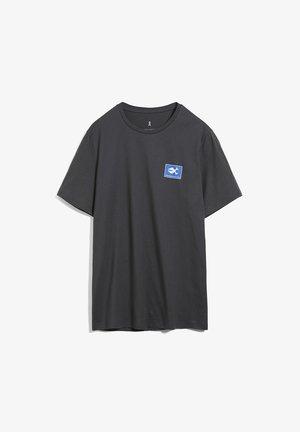 JAAMES  - Print T-shirt - acid black