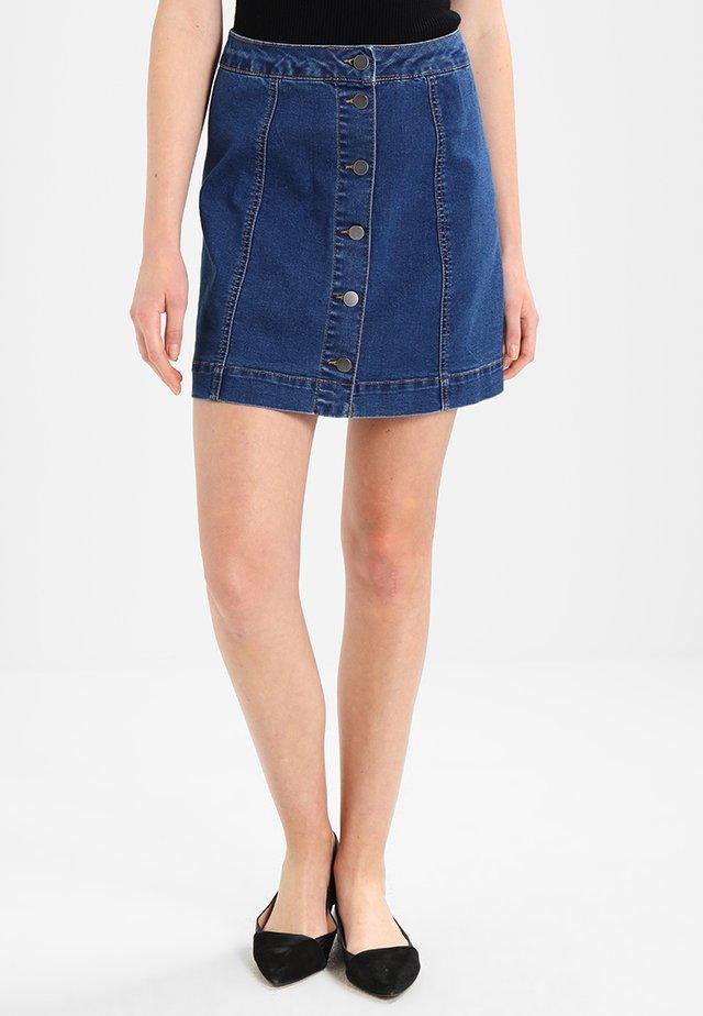Áčková sukně - mid blue denim