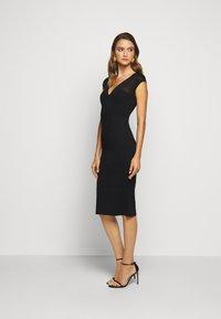 Hervé Léger - V NECK DRESS - Shift dress - black - 0