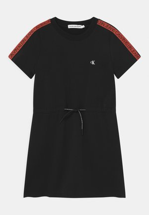 LOGO TAPE - Day dress - black