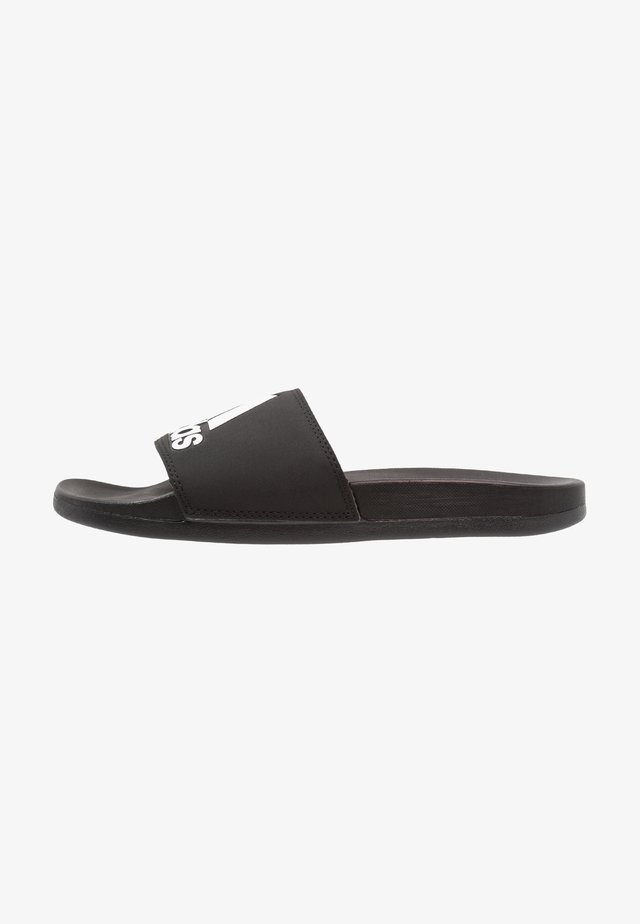 ADILETTE LOGO - Pool slides - core black/footwear white