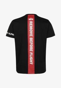 Alpha Industries - T-shirt z nadrukiem - black - 1