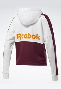 Reebok - TRAINING ESSENTIALS LOGO HOODIE - Bluza rozpinana - white - 7