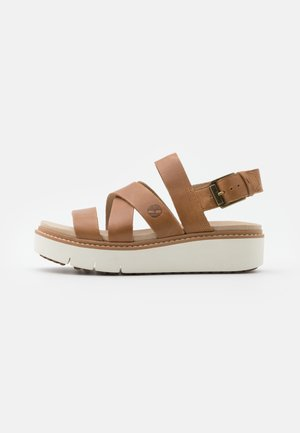 SAFARI DAWN FRONT STRAP - Platform sandals - light brown